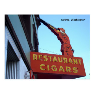 Carte Postale Signe Yakima, Washington de centre de sports