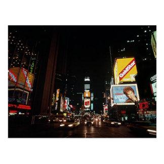 Carte Postale Signes vintages de théâtre de Times Square de New