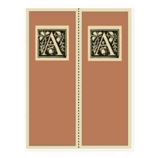 Carte Postale Signet de monogramme d'Un-Cru