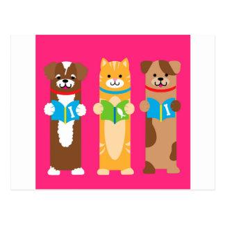 Carte Postale Signets de chat et de chien
