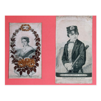 Carte Postale Signets de la Reine Victoria et de prince Albert