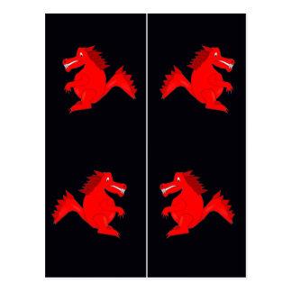 Carte Postale Signets rouges de dragons