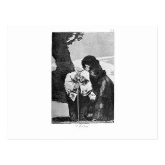 Carte Postale Silence par Francisco Goya