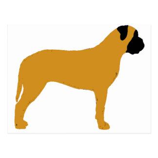 Carte Postale silhouette de bullmastiff