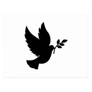 Carte Postale Silhouette de colombe