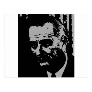 Carte Postale Silhouette de Lyndon B. Johnson