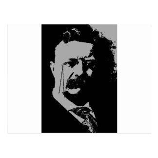 Carte Postale Silhouette de Theodore Roosevelt