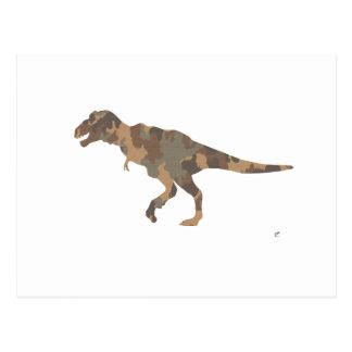 Carte Postale Silhouette de Tyranosaurus Rex de camouflage