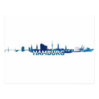 Carte Postale Silhouette d'horizon de Hambourg