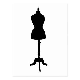 Carte Postale Silhouette II de forme de robe