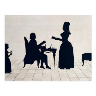 Carte Postale Silhouettes de Monsieur et de Madame Roland