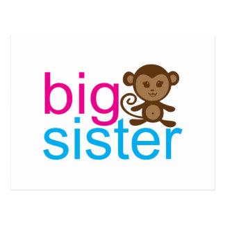 Carte Postale Singe de grande soeur