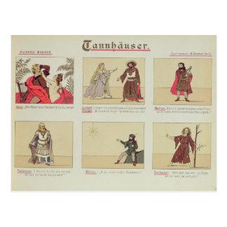 Carte Postale Six scènes concernant l'opéra 'Tannhauser