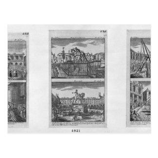 Carte Postale Six statues royales détruites à Paris