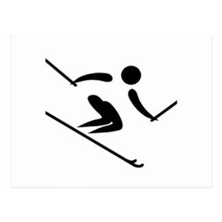 Carte Postale Skieur de neige