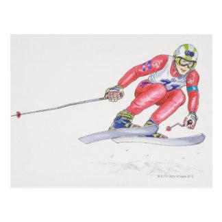 Carte Postale Skieur exécutant le saut 2