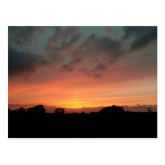 Carte Postale skyblaze - coucher du soleil d'août