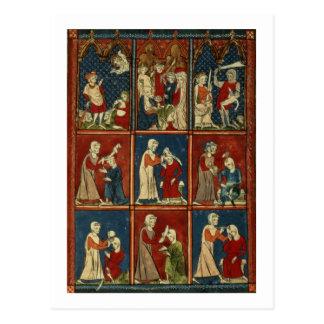 Carte Postale Sloane scènes médicales et bibliques de 1977