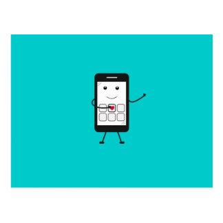 Carte Postale Smartphone amical