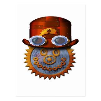 Carte Postale smiley de steampunk