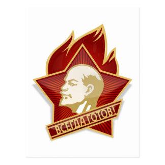 Carte Postale Socialiste de Vladimir Lénine d'organisation de