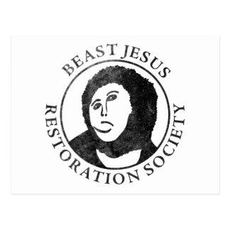 Carte Postale Société de restauration de Jésus de bête