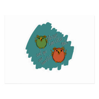 Carte Postale soeurs de hibou