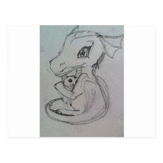 Carte Postale Soin de dragon