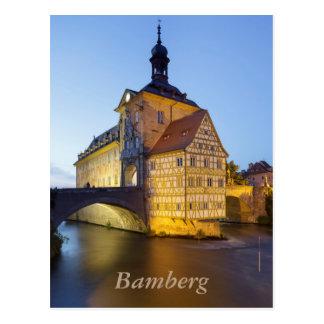 Carte Postale Soirée de Bamberg