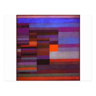 Carte Postale Soirée du feu par Paul Klee