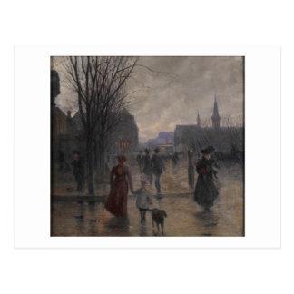 Carte Postale Soirée pluvieuse sur l'avenue de Hennepin, c.1902