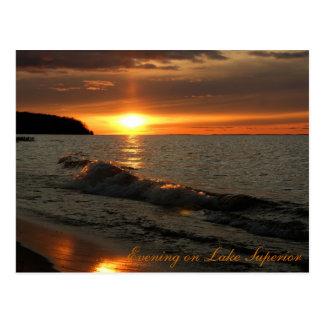 Carte Postale Soirée sur le lac Supérieur