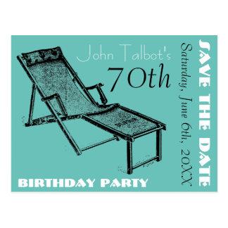 Carte Postale Soixante-dixième économies de fête d'anniversaire