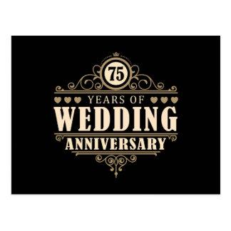 Carte Postale soixante-quinzième Anniversaire de mariage