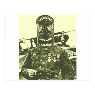Carte Postale Soldat de masque de Tiki