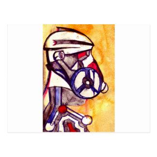 Carte Postale Soldat masqué par gaz V2