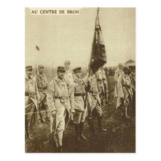Carte Postale Soldats alliés chez Bron