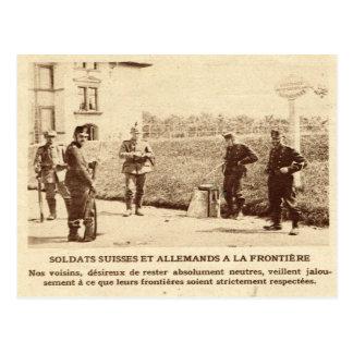 Carte Postale Soldats de Première Guerre Mondiale, de Suisse et