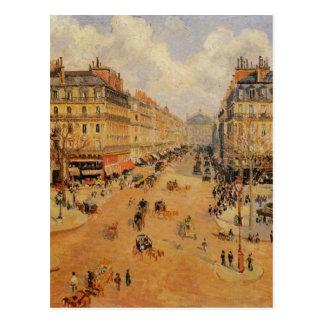 Carte Postale Soleil de l'Opera Morning d'avenue par Camille