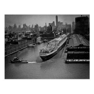 Carte Postale Solides solubles Etats-Unis au pilier à New York