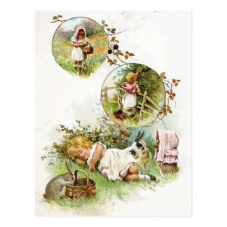 Carte Postale Sommeil et rêver des lapins