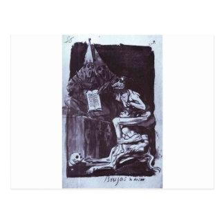Carte Postale Sorcières prêtes à voler par Francisco Goya