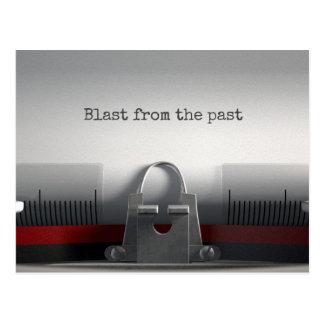 Carte Postale Souffle de la machine à écrire passée