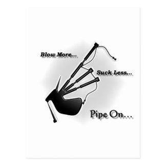 Carte Postale Soufflez davantage… Sucez moins… (Moderne)