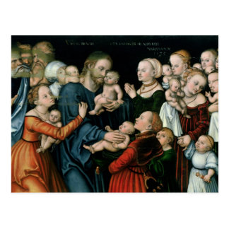 Carte Postale Souffrez les petits enfants pour venir à moi, 1538