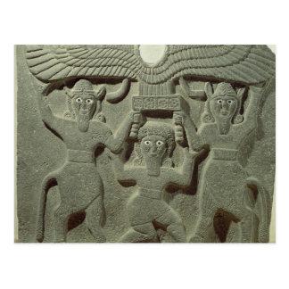 Carte Postale Soulagement dépeignant Gilgamesh entre deux