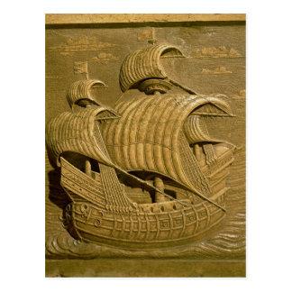 Carte Postale Soulagement dépeignant un galion vénitien