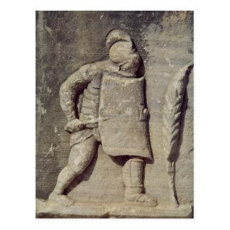 Carte Postale Soulagement dépeignant un soldat romain