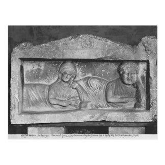 Carte Postale Soulagement funéraire d'un couple, de Palmyra, la