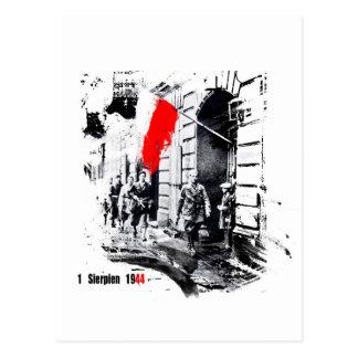 Carte Postale Soulèvement 1944 de Varsovie Pologne
